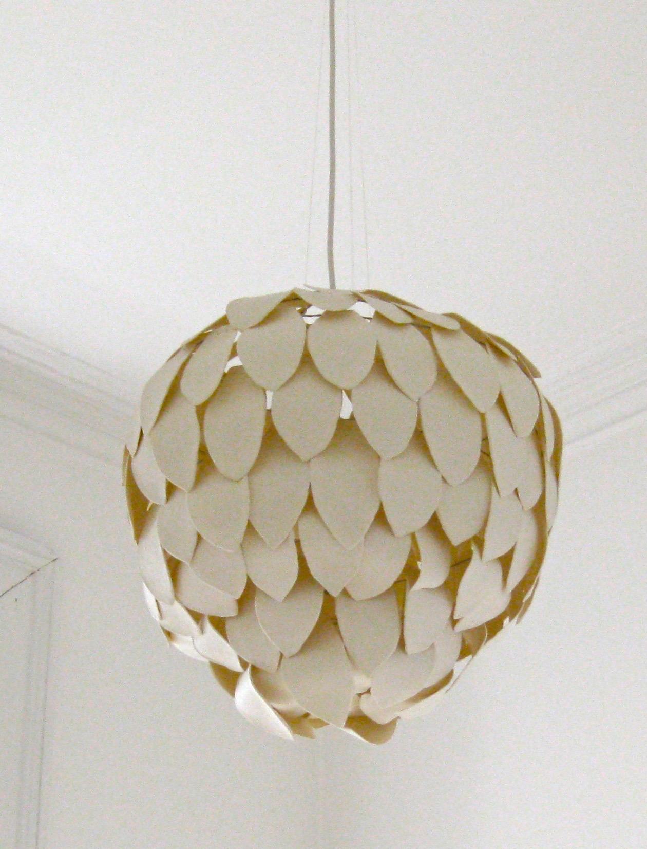 Large chandelier composed of porcelain petals