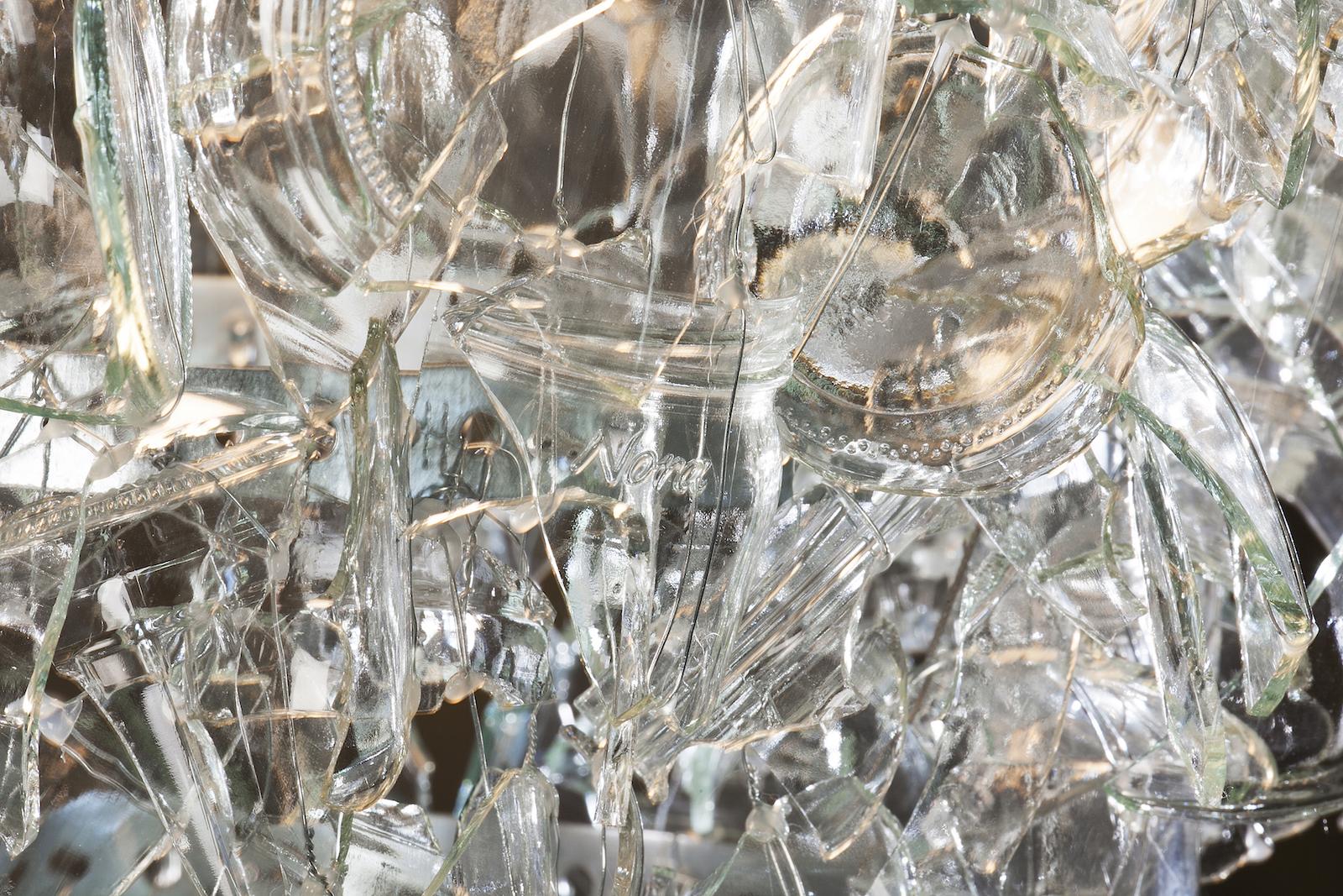 Details of broken glass